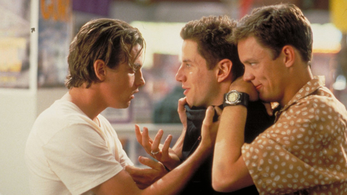 "Skeet Ulrich, Matthew Lillard, and Jamie Kennedy in ""Scream"" (1996)"