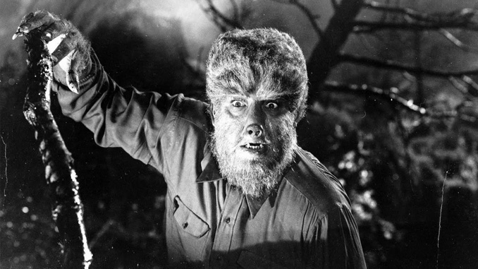 Lon Chaney, Jr. as the Wolf Man