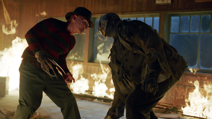 "Robert Englund and Ken Kirzinger in ""Freddy vs. Jason"" (2003)"