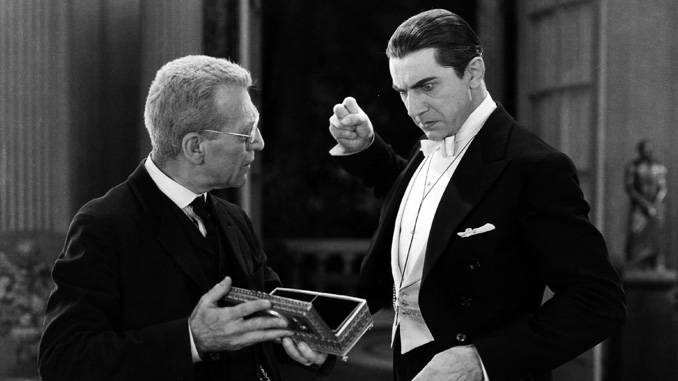 "Edward Van Sloan and Bela Lugosi in ""Dracula"" (1931)"