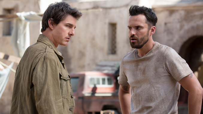 "Tom Cruise and Jake Johnson in ""The Mummy"" (2017)"