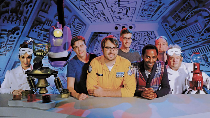 The cast and crew of Netflix's MST3K revival