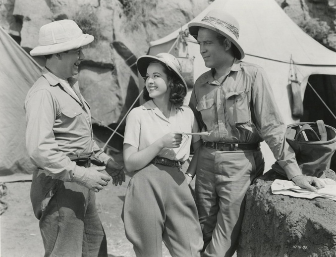 "Dick Foran, Wallace Ford, and Peggy Moran in ""The Mummy's Hand"" (1940)"