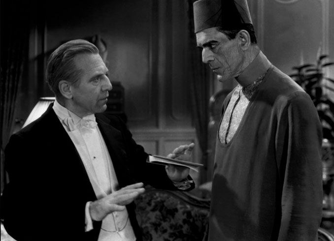 "Edward Van Sloan and Boris Karloff in ""The Mummy"" (1932)"
