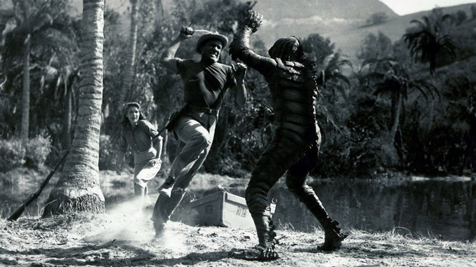 Julie Adams, Richard Carlson, and Ben Chapman in Creature from the Black Lagoon (1954)