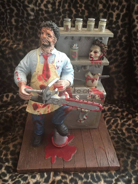 "Licensed ""Texas Chain Saw Massacre"" figure"