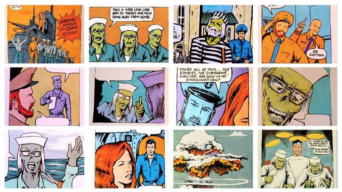 A selection of panels from Mitchell Comics