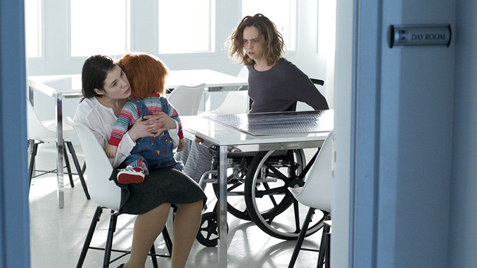 "Elisabeth Rosen and Fiona Dourif in ""Cult of Chucky"" (2017)"