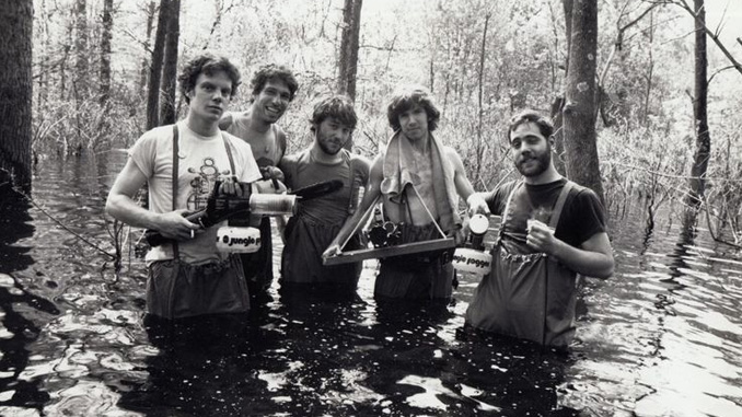 "Sam Raimi and Co. filming the opening sequence for ""The Evil Dead"" (1981)"