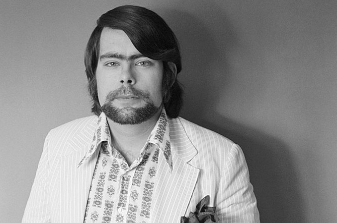 Stephen King's Author Photo from Carrie