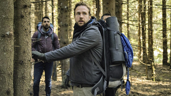Rafe Spall and Arsher Ali in The Ritual