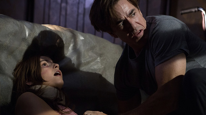 Dermot Mulroney and Stefanie Scott in Insidious: Chapter 3 (2015)